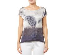 Paisley Round T-Shirt Grau