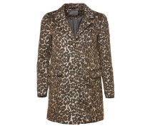 City Leopard Wollmantel