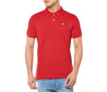 Basic big flag Poloshirt Rot