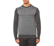 Woll Crew Pullover Dunkelgrau