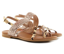 Clasic Leopard-Gold Sandale Damen Braun