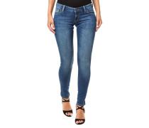 Skinny Ultra Low Jeans Blau