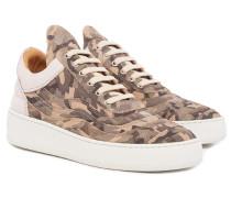 Wavy Camo Off White Low Top Damen Sneaker oliv-khaki