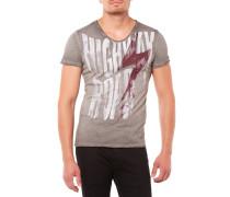 Highway V-Neck T-Shirt Dunkelgrau