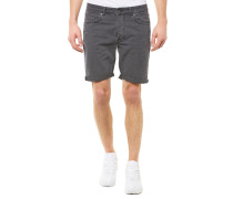 Shnalex Straight Jeansshort Grau