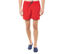 Solid Swim Trunk Badehose Rot