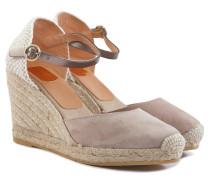 Damen Sandaletten Hellbraun