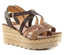 Sandaletten Damen Braun