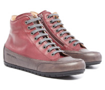 Plus Zip Damen Sneaker Dunkelrot