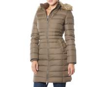 Basic Down Coat Mantel Braun