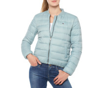Light Down Bomber Jacke Hellblau