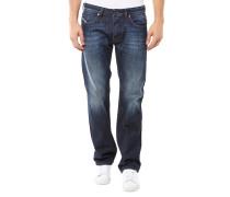Larkee 0823G Regular-Straight Jeans Dunkelblau