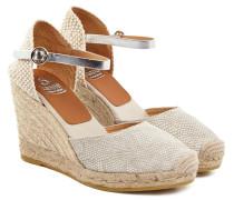Damen Sandaletten Hellgrau