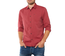 Basic Solid Hemd Dunkelrot