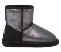 Stinger Metallic Mini Damen Boots Schwarz