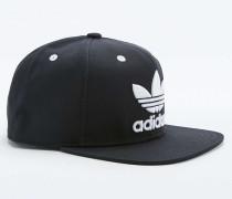 Snapback Cap in schwarzem Colour Block mit Dreiblatt