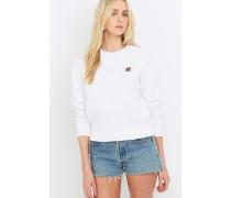 """Weißes Sweatshirt """"Massimo"""" mit Rundhalsausschnitt"""