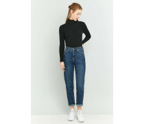 Mom Jeans in dunklem Indigo