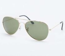 Klassische Pilotensonnenbrille in Gold und Grün