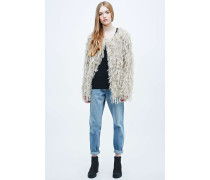 "Flauschiger Cardigan ""Faithful"" in Beige"