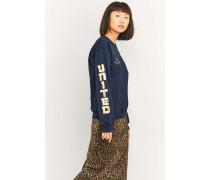 """Sweatshirt """"United"""" in Marineblau mit Foliendesigns"""