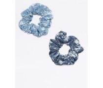 Haarbänder in Jeansblau mit PaisleyPrint im 2erPack