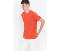 TShirt in Orange mit Rundhalsausschnitt