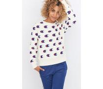 Sweatshirt mit Rundhalsausschnitt und Logoprint