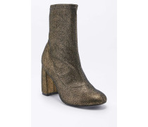 "Elastische Ankle Boots ""Kourtney"" aus Lurex in Gold"