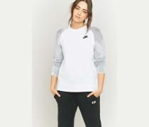 """Sweatshirt """"Tech"""" in Weiß mit Rundhalsausschnitt"""
