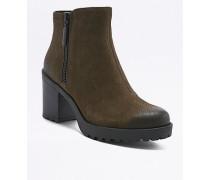 """Ankle Boots """"Grace"""" in Grün mit Reißverschluss"""