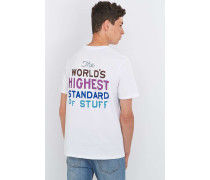"TShirt ""Highest Standard"" in Weiß"