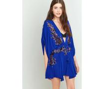 """Besticktes Kleid """"Pretty Pineapple"""" in Blau"""
