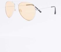 Pilotensonnenbrille mit farbigen Gläsern