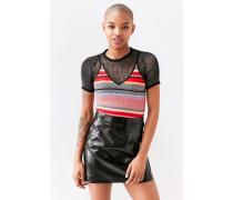 Urban Outfitters  Minirock aus veganem Leder in schwarzer Lackoptik