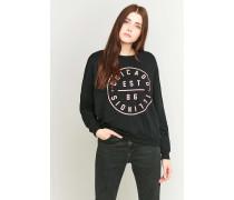 Sweatshirt in Schwarz mit Dolmanärmeln und Grafik