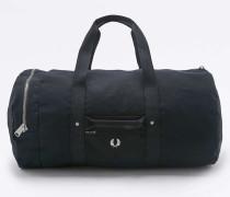 Reisetasche aus Baumwollleinen in Schwarz