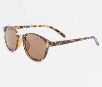 Quadratische Sonnenbrille in SchildpattOptik mit Metallsteg