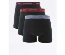Calvin Klein  Boxershorts in Schwarz mit Kontrastbund im Set