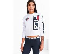 """Sweatshirt """"Moto"""" in Weiß mit Rundhalsausschnitt"""