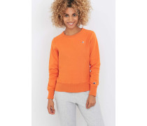 Sweatshirt in Orange mit Rundhalsausschnitt