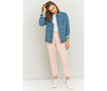 Mom Jeans aus Cord in Rosa