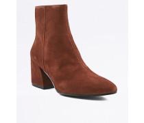 """Ankle Boots """"Olivia"""" aus Wildleder in Hellbraun mit spitzer Zehenpartie"""