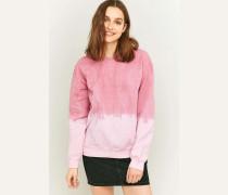 Sweatshirt in Rosa mit Farbverlauf und Rundhalsausschnitt