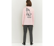 "Longsleeve ""Praying Hands"" in Rosa"