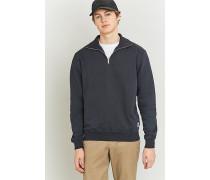 """Sweatshirt """"Stanley"""" in Dunkelblau mit 1/4Reißverschluss"""