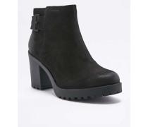 "Ankle Boots ""Grace"" in Schwarz mit warmem Futter"