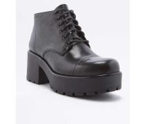 """Ankle Boots """"Dioon"""" aus Leder in Schwarz mit Schnürung"""