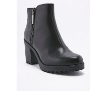 """Ankle Boots """"Grace"""" aus Leder in Schwarz mit Reißverschluss"""