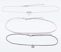 Halsketten mit Abalone und geometrischem Design